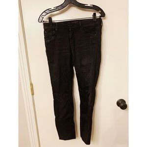 Mother the Looker Black Skinny Jeans